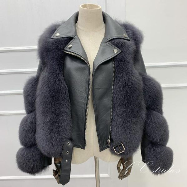 2020 Real Fur Coat Winter Jacket Women Natural Fur Genuine Leather Outerwear Streetwear Thick Warm Fashion