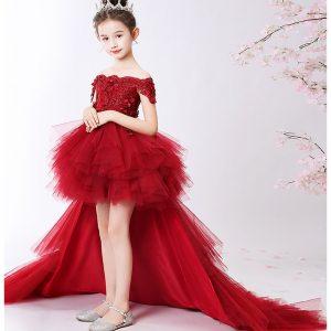 فستان طويل زائدة زهرة عيد الميلاد فتاة فستان زفاف الأميرة توتو حفلات الأحداث فساتين لفتاة في سن المراهقة فستان الاحتفالات الملابس