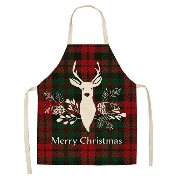 زينة عيد ميلاد سعيد من الكتان زينة عيد الميلاد للمنزل اكسسوارات المطبخ ناتال نافيداد 2020 هدايا الكريسماس للعام الجديد
