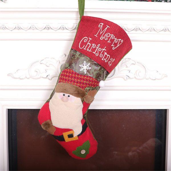 3 قطعة السنة الجديدة جوارب عيد الميلاد كيس هدية عيد الميلاد كيس الحلوى زينة عيد الميلاد للأطفال شجرة تزيين