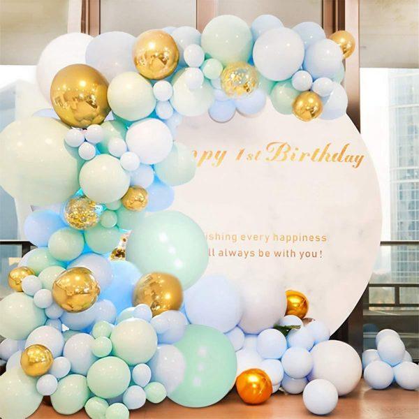 طقم بالونات ماكارون لاتكس باستيل بالون جارلاند قوس عدة استحمام الطفل زفاف حفلة عيد ميلاد الديكور 100/123/126/174 قطعة/المجموعة