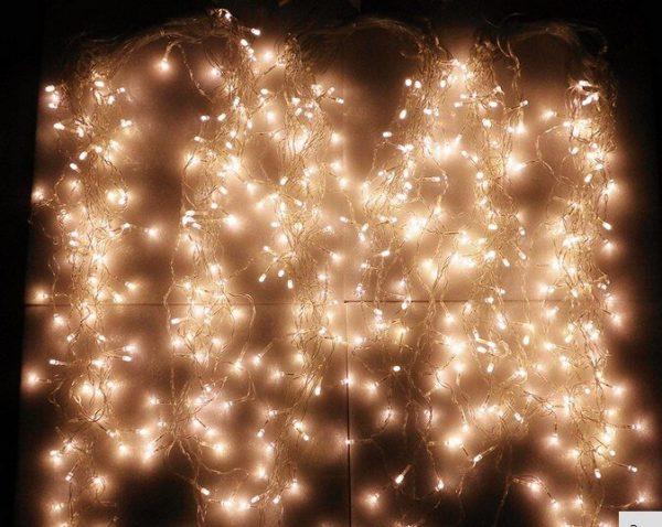 8MX0.65/12MX0.65/16MX0.65/20MX0.65/24MX0.65LED سلسلة أضواء عيد الميلاد الجنية أضواء في الهواء الطلق الطرف/الستار/الديكور