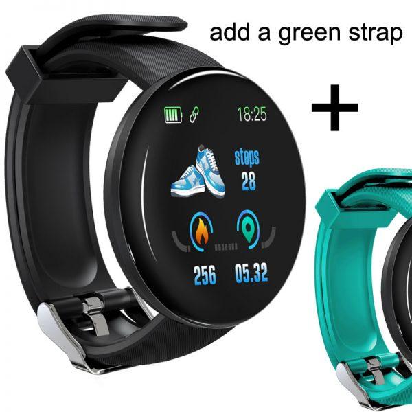 2019 بلوتوث ساعة ذكية الرجال ضغط الدم ساعة ذكية مستديرة النساء ساعة مقاوم للماء الرياضة المقتفي WhatsApp لنظام أندرويد Ios