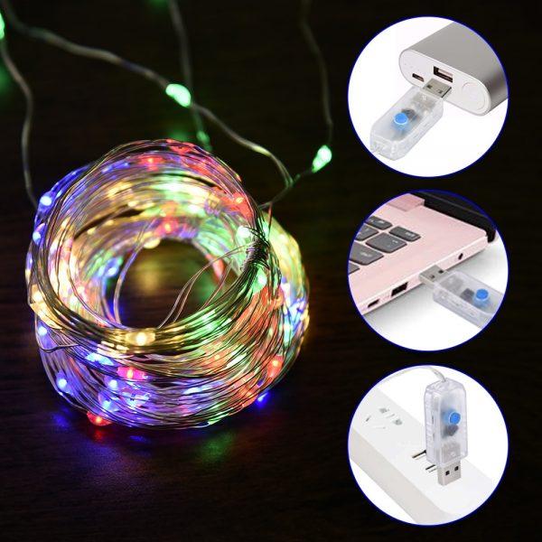 3M LED الجنية ضوء عيد الميلاد ستائر زخرفية الطوق على نافذة USB التحكم عن بعد شنقا عطلة قطاع أضواء ديكور المنزل