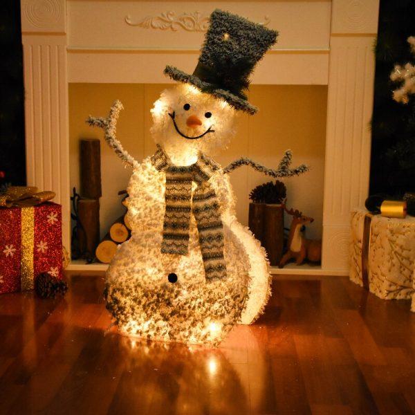 زينت جميل ثلج و الأيائل لعيد الميلاد الحديد المطاوع متوهجة عيد الميلاد الحلي من منزل المشهد عيد الميلاد البنود