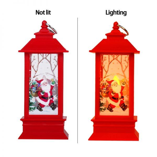 زينة عيد الميلاد للمنزل فانوس Led شمعة شموع ضوء للشاي شجرة عيد الميلاد الحلي سانتا كلوز الأيائل مصباح Kerst السنة الجديدة هدية