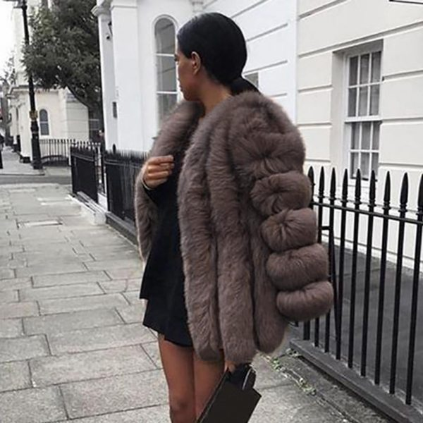 Mink Coats Women 2020 Winter Top Fashion Pink Faux Fur Coat Elegant Thick Warm Outerwear Fake Fur Jacket Chaquetas Mujer