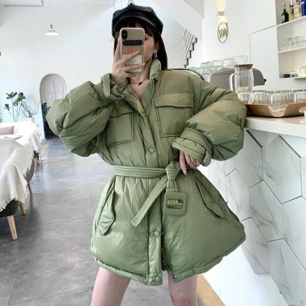 Women's Woman 2020 Coat Warm Winter Female Jacket White Duck Down Coats Thick Fashion Clothes Mujer Chaqueta Pph1214